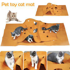 Katzenspielteppich Katzen Spielmatte Kratzmatte Katzenhöhle Katzenspielzeug FILZ