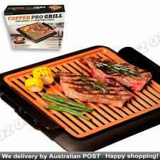 Non Stick Electric BBQ Teppanyaki Grill COPPER PRO   Barbeque Griddle Smokeless