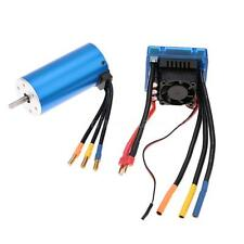 3674 2250KV 4P Brushless Motor with 120A Brushless ESC for 1/8 RC Car Y9G3