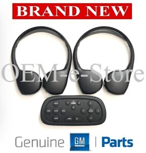 2015 2016 Chevrolet Tahoe Suburban DVD Entertainment TWO Headphones Set + Remote