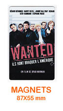 JOHNNY HALLYDAY   DEPARDIEU  RENAUD  magnet / aimant   5,5 cm x 8,7 cm WANTED