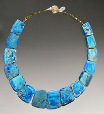 New Markdown - Bess Heitner Multi-Aqua Pyrite Necklace
