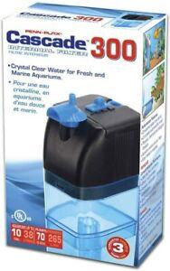 Penn Plax Cascade 300 Submersible Aquarium Filter Cleans Up to 10 Gallon Tank