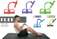 Sit Up Pull Rope Foot Pedal Abdominal Exerciser Multi-function Resistance Band
