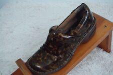 Womens BOC Born Clogs Shoes Size 7 M Brown Leopard Print Nursing Professional