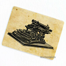Typewriter #1 Deco Magnet, Decorative Fridge Antique Machine Illustration