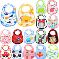 5Pcs Baby Bibs Children Cartoon Waterproof Burp Cloth Feeding Saliva Bib lcP mi