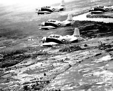"Douglas A-1E Skyraider Aircraft fly in formation 8""x 10"" Vietnam War Photo 144"