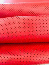 vinyl Faux Leather Perforated Red commercial grade upholstery Ships Rolled