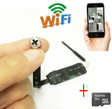 720p WIFI IP Network white screw nanny Recorder Hidden SPY mini camera + 8GB TF