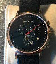 Bering Herren Uhr Armbanduhr Slim Classic Chronograph - 10540-462 Leder TOP!!!
