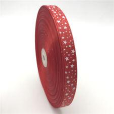 "5yards 5/8"" (15mm) Printing STAR Grosgrain Ribbon Bow Christmas Decoration"