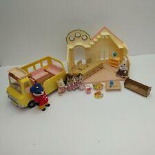 Sylvanian Families Nursery School & Bus 5 Figures & Accessories - Pre-owned
