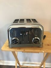Cusinart 4 Slice Toaster CPT-180 Dual Controls Stainless