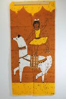 Tischläufer Tischband Wandteppich Tischdecke Vintage 50er Sängerform Stoff 18
