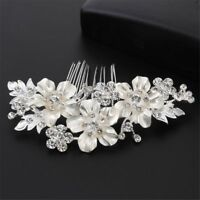 Bridal Hair Comb Flower Pins Wedding Clip Crystal Rhinestone Hairpins