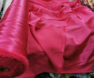 New*top quality shocking pink soft flowy satin back crepe fabric 58''width