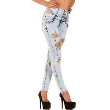 Damen-Bootcut-Jeans mit hoher Bundhöhe (en) niedriger Hosengröße 38