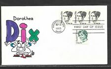 USA 1983 HAND PAINTED DOROTHEA DIX RICHARD ELLIS ANIMATED FIRST DAY COVER