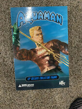 "DC Direct 13"" Deluxe Collector Edition Aquaman With Trident & Base 1:6 NIB"