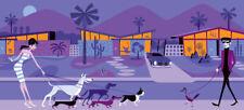 "Josh Agle SHAG ""The Odd Bird"" Print w/ COA Palm Springs Mid Century Modern MCM"