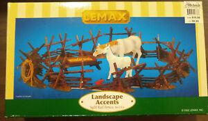 Lemax Landscape Accents Split Rail Fence Set (6 Pieces) 24776 NIB 2002