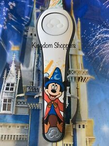 Disney Parks Fantasia Sorcerer Mickey WHITE Magic Band 2 2.0 Magicband NEW