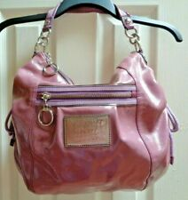 COACH Poppy Jazzy Patent Leather Hobo Crossbody Shoulder Bag 15790 Grape Ice
