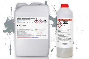 Bodenbeschichtung Bodenfarbe Beschichtung 2K Bodenversiegelung ca25m² RAL7001