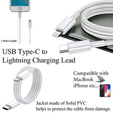 Fast USB-C Male to Type-C Male Quick Charging Cable for iPhone X 11 7 MacBook UK