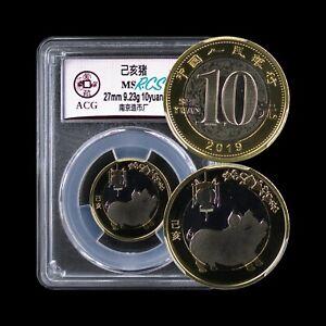 CHINA. 2019, 10 Yuan - Lunar Pig 🐖 , Proof-Like, ACG