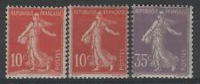 FRANCE ANNEE COMPLETE 1906 YVERT 134/136 , 3 TIMBRES SEMEUSE NEUFS xx LUXE  P559