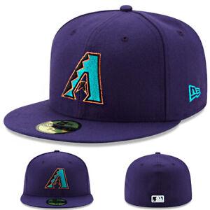 New Era Arizona Diamondbacks Purple Fitted Hat MLB Authentic 1998 Made in U.S.A