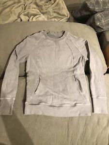 lululemon scuba crew washed lunar rock size 4 xs pullover sweater