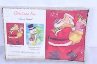 Vintage American Greetings Santa Snowman Sealed Box Christmas Cards 16 Cards Env