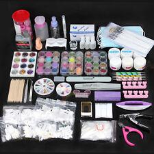 Nail Art Care Set 48pc Acrylic Powder UV Gel Manicure DIY Tips Polish Brush Kit