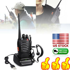 Two Way Radio Walkie Talkie Handheld Transceiver Portable F-Antenna HAM Kit Tool