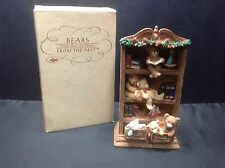 Bears From The Past Collectible Teddy Bear Bookcase Figurine, Nib from Russ