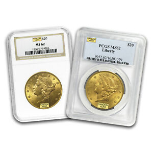 SPECIAL PRICE! $20 Liberty Gold Double Eagle MS-62 PCGS/NGC (Random)