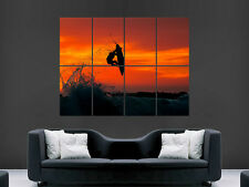 SURFING WAVE SUNSET BEAUTIFUL AMAZING GIANT WALL POSTER ART PICTURE PRINT LARGE