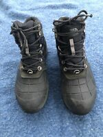The North Face Snowsquall Mid Snow Boot Black green Winter Waterproof Men's 8