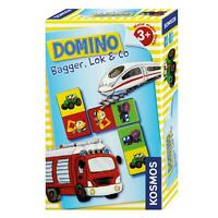 KOSMOS Kinderspiele Domino Bagger, Lok & Co. Fahrzeuge Spiel ab 3 J. 710811
