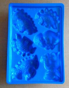 Jello Vintage Jiggler Dinosaur Mold 6 Different Dinosaur Shapes sa