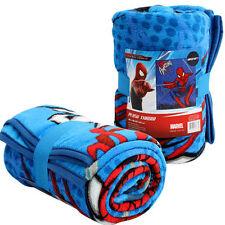 "Blanket Soft Cozy Micro Raschel Throw 50""x60"" MARVEL SPIDERMAN BLUE"