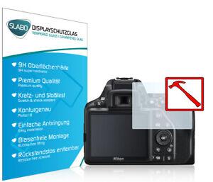"""Slabo PREMIUM Panzerfolie für Nikon D3500 KLAR """"Tempered Glass"""" 9H"""