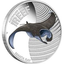 2012 Australian Sea Life II - The Reef-Manta Ray - 1/2oz Silver Proof Coin