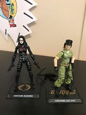 GI Joe 25th 30th 35th lot Lady Jane & Baroness 3.75 1:18 action figure