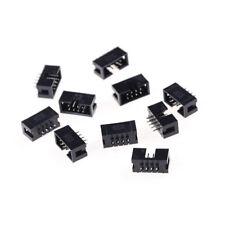10PCS DC3-8P 2.54mm 2x4 Pin Straight Male Shrouded header IDC Socket US