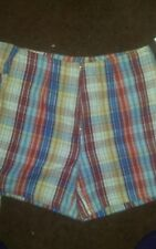Fore Warned 100% Cotton Plaid Skort Size 4 NWT