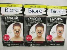 3 BIORE / CHARCOAL / DEEP CLEANSING PORE STRIPS / 18 PORE STRIPS EACH / BB 3728
